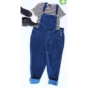 Teal Corduroy Modcloth 'Potluck' Overalls Size 1X
